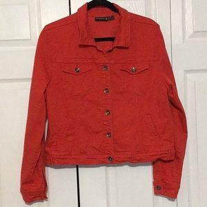 Susan Graver Red Jean Jacket XL